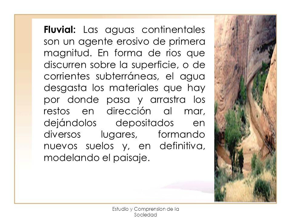 Estudio y Comprension de la Sociedad Fluvial: Las aguas continentales son un agente erosivo de primera magnitud. En forma de rios que discurren sobre