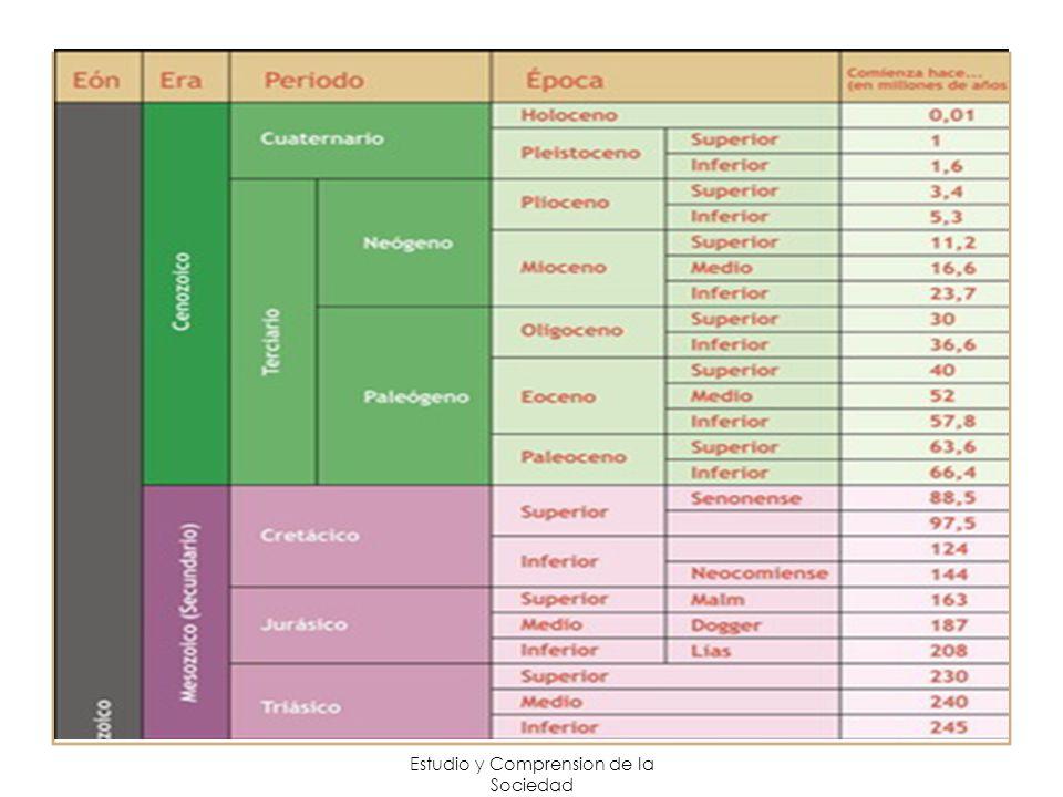 Estudio y Comprension de la Sociedad -Las placas se desplazan entre uno a veinte centímetros por año.
