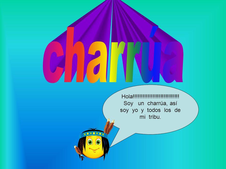 Hola!!!!!!!!!!!!!!!!!!!!!!!!!!!!! Soy un charrúa, así soy yo y todos los de mi tribu.