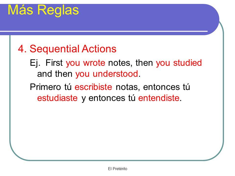 El Pretérito Más practica Escribir I wrote We wrote You wrote She wroteThey wrote Escribí Escribiste Escribió Escribimos Escribieron