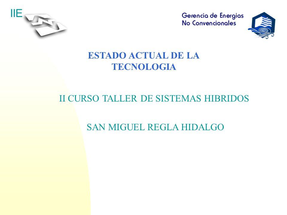 IIE ESTADO ACTUAL DE LA TECNOLOGIA II CURSO TALLER DE SISTEMAS HIBRIDOS SAN MIGUEL REGLA HIDALGO