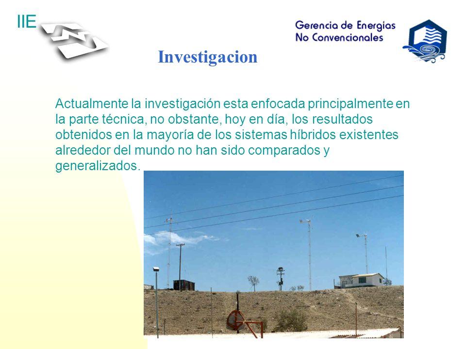 IIE Investigacion Actualmente la investigación esta enfocada principalmente en la parte técnica, no obstante, hoy en día, los resultados obtenidos en