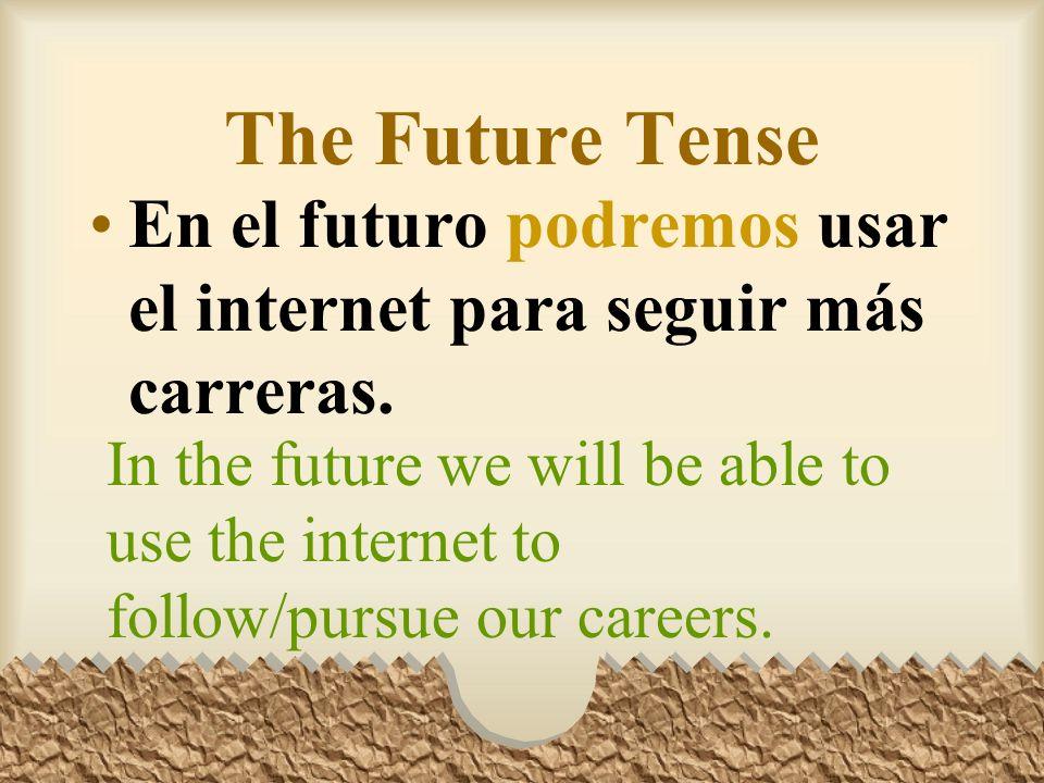 The Future Tense Algún día tendré un trabajo con un salario muy bueno.