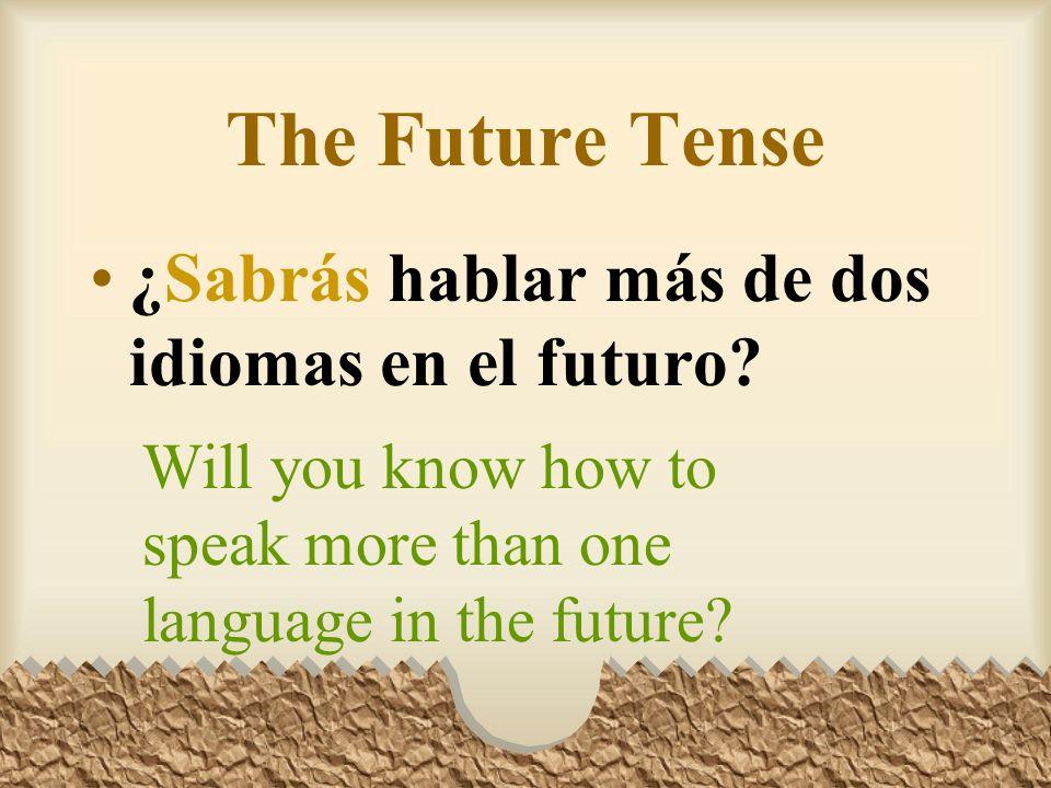 The Future Tense En el futuro podremos usar el internet para seguir más carreras.