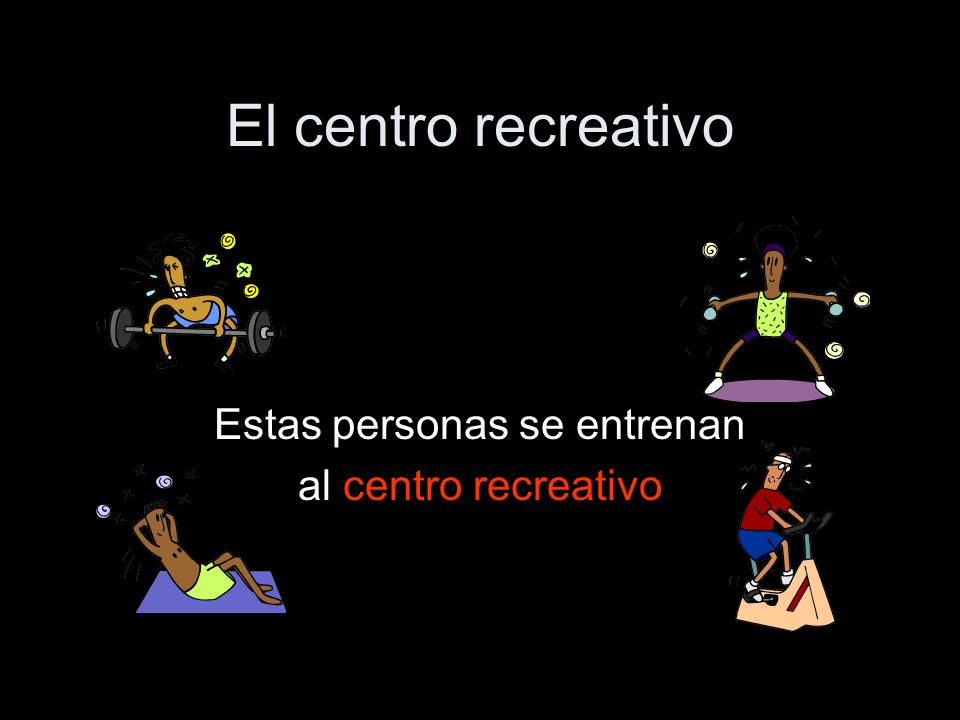 El centro recreativo Estas personas se entrenan al centro recreativo