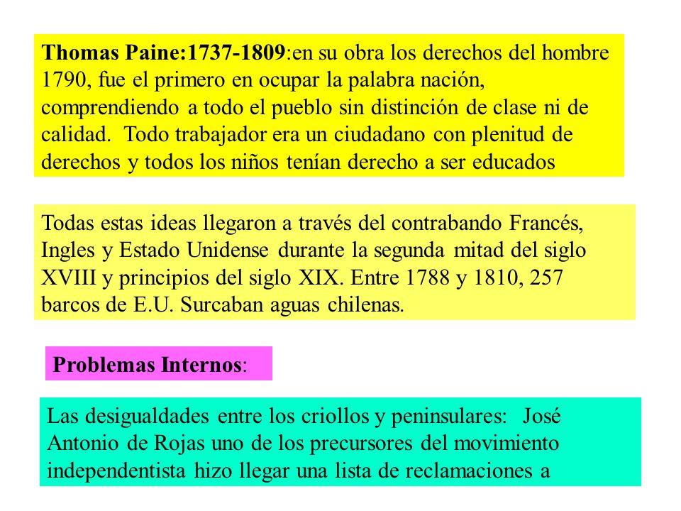 El General Osorio esgrimía la constitución Española de 1812 y exigió la conformidad de Chile con sus disposiciones.