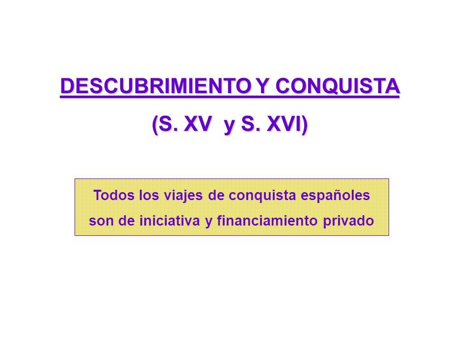 DESCUBRIMIENTO Y CONQUISTA (S.XV y S.