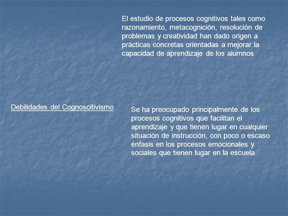 El estudio de procesos cognitivos tales como razonamiento, metacognición, resolución de problemas y creatividad han dado origen a prácticas concretas