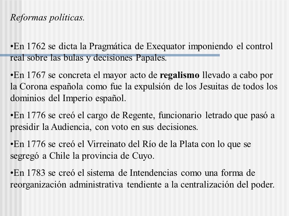 Reformas políticas.