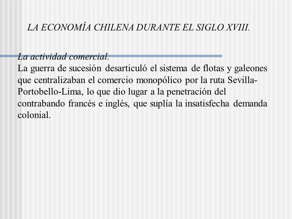 LA ECONOMÍA CHILENA DURANTE EL SIGLO XVIII.La actividad comercial.