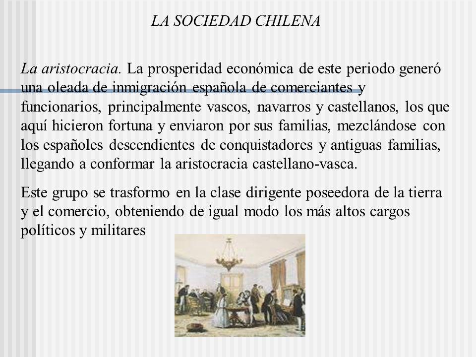 LA SOCIEDAD CHILENA La aristocracia.