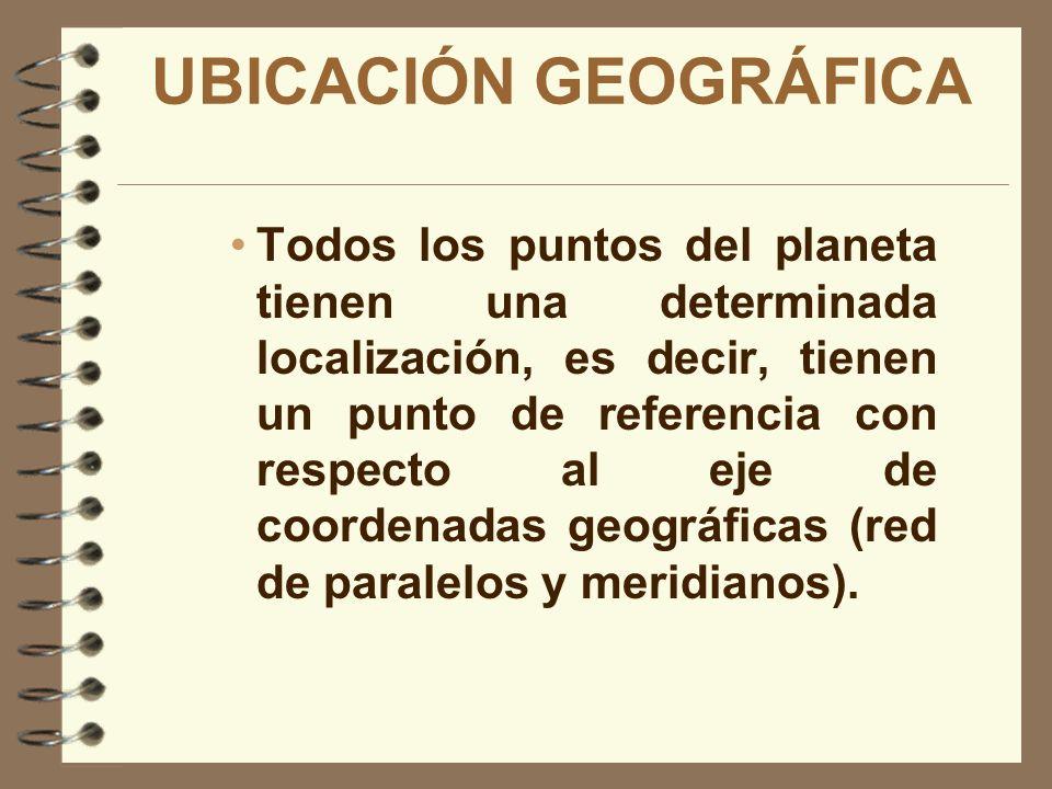ELEMENTOS DEL MAPA La red de coordenadas geográficas, la escala y la simbología.