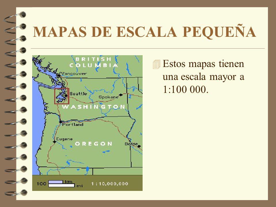 MAPAS DE ESCALA MEDIA 4 Los mapas de escala media van de 1:20 000 a 1:100 000; este es el caso de las hojas topográficas.