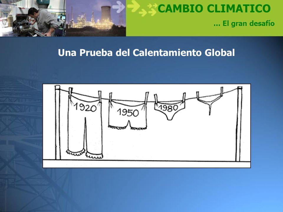 CAMBIO CLIMATICO … El gran desafío Una Prueba del Calentamiento Global