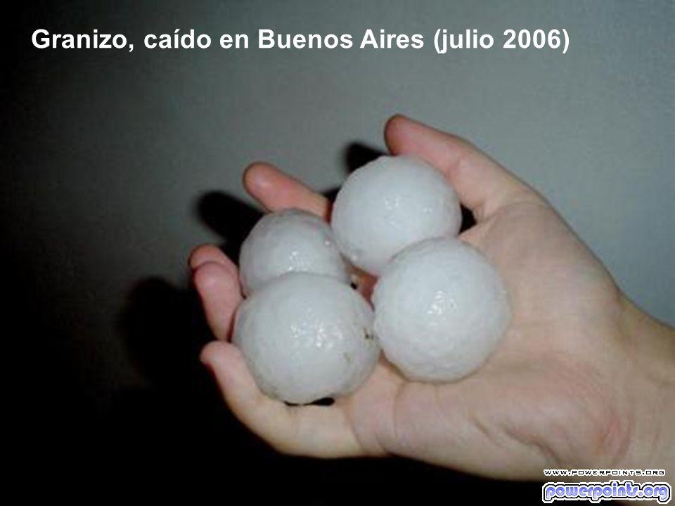 Granizo, caído en Buenos Aires (julio 2006)