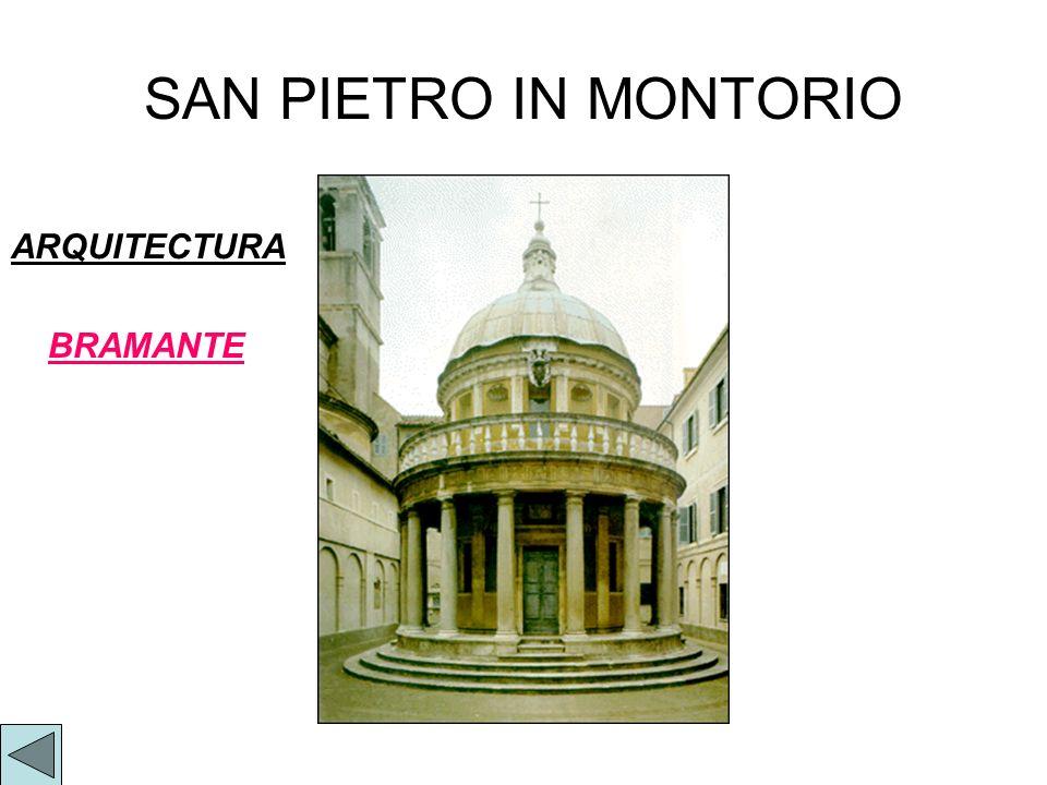 SAN PIETRO IN MONTORIO BRAMANTE ARQUITECTURA