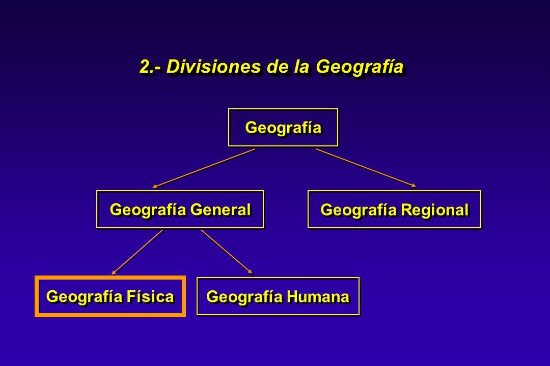 La Geografía Física estudia los paisajes o regiones tal como se presentan sin la acción del hombre, es decir, estudia los paisajes naturales.