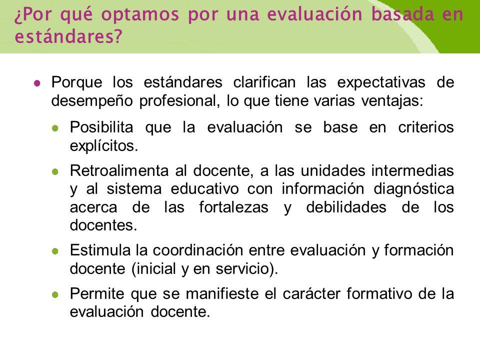 ¿Por qué optamos por una evaluación basada en estándares.
