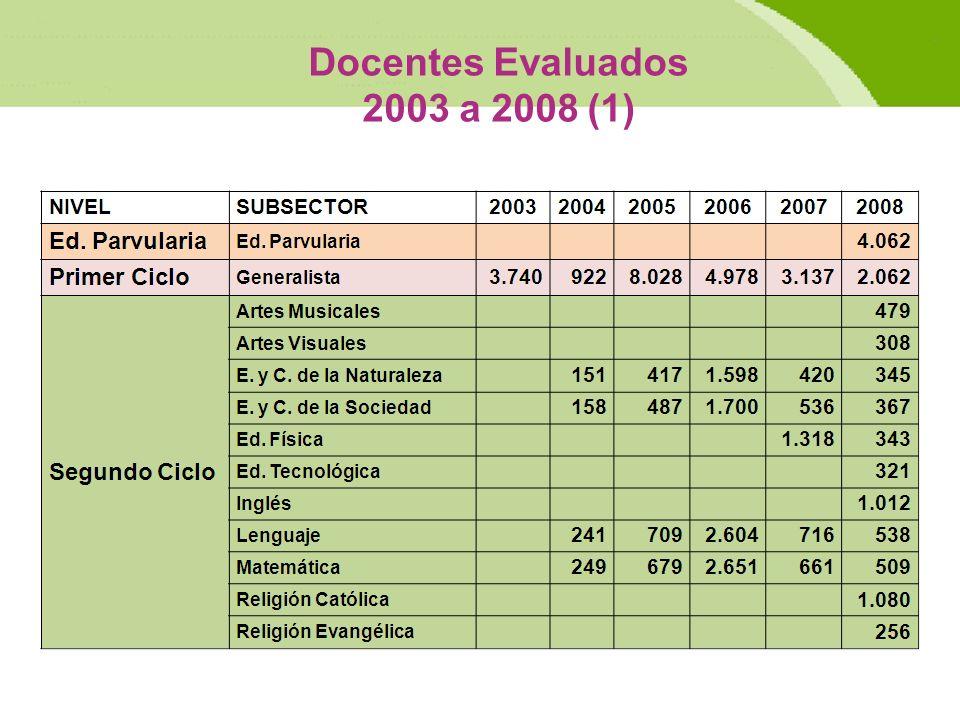 Docentes Evaluados 2003 a 2008 (1)