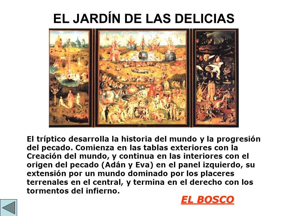El Edén – PANEL IZQUIERDA Visión idílica del jardín del edén.