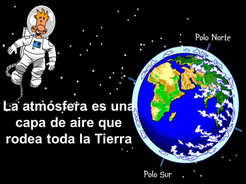 La atmósfera es una capa de aire que rodea toda la Tierra