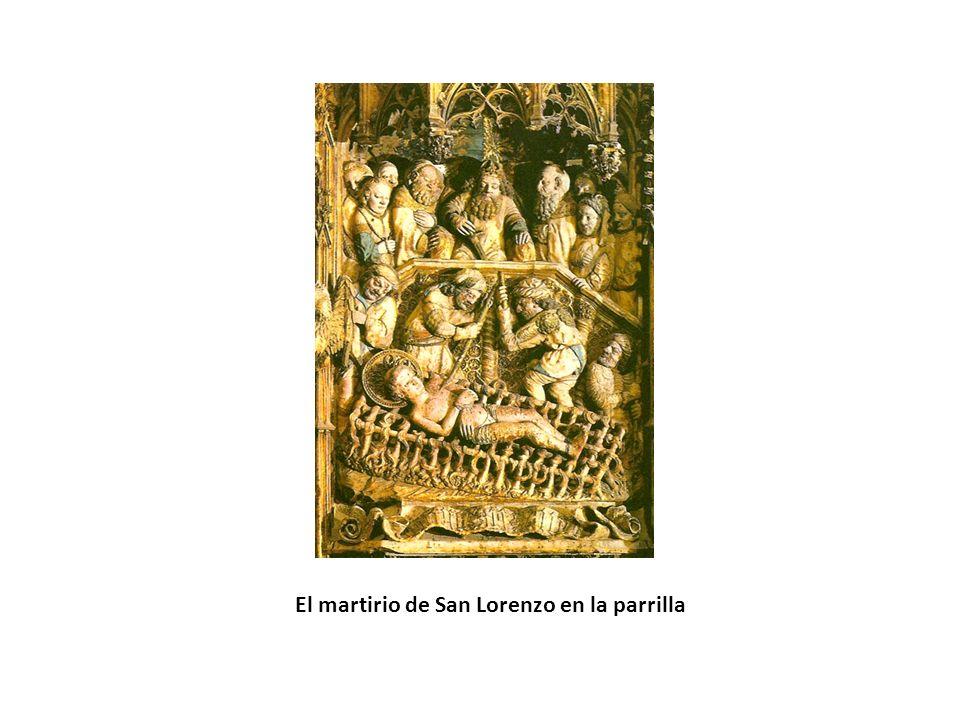 El martirio de San Lorenzo en la parrilla