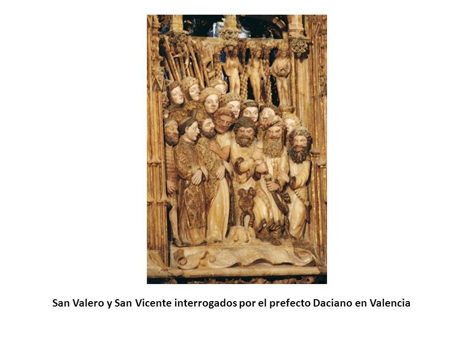 El milagro de la endemoniada ante el relicario de San Valero en la Seo