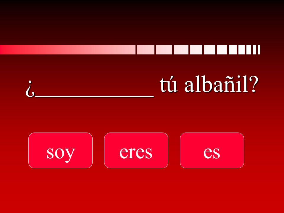 ¿__________ tú albañil? soyereses