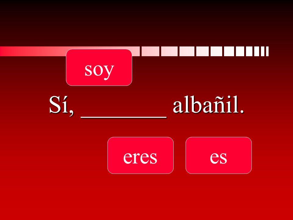 Sí, _______ albañil. soy ereses