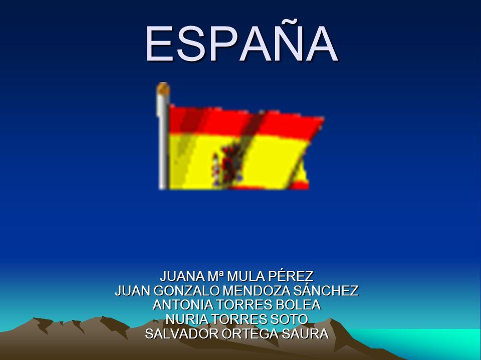 ESPAÑA JUANA Mª MULA PÉREZ JUAN GONZALO MENDOZA SÁNCHEZ ANTONIA TORRES BOLEA NURIA TORRES SOTO SALVADOR ORTEGA SAURA