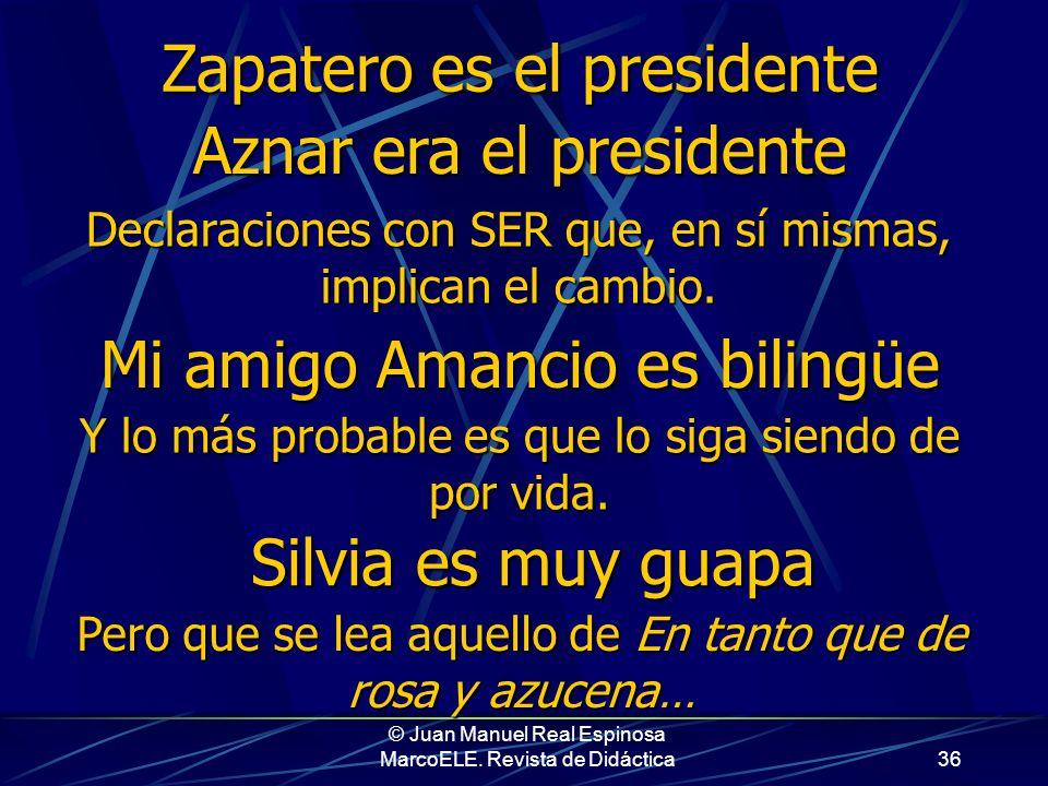 © Juan Manuel Real Espinosa MarcoELE. Revista de Didáctica35 El médico está de tesorero En esta construcción, tesorero aparece como suplemento, no com