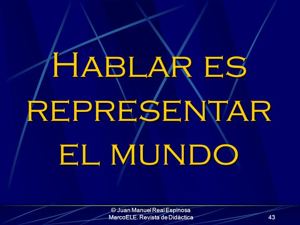 © Juan Manuel Real Espinosa MarcoELE. Revista de Didáctica42 Frente al carácter estático e identificativo de ser, estar nos permite expresar una noció