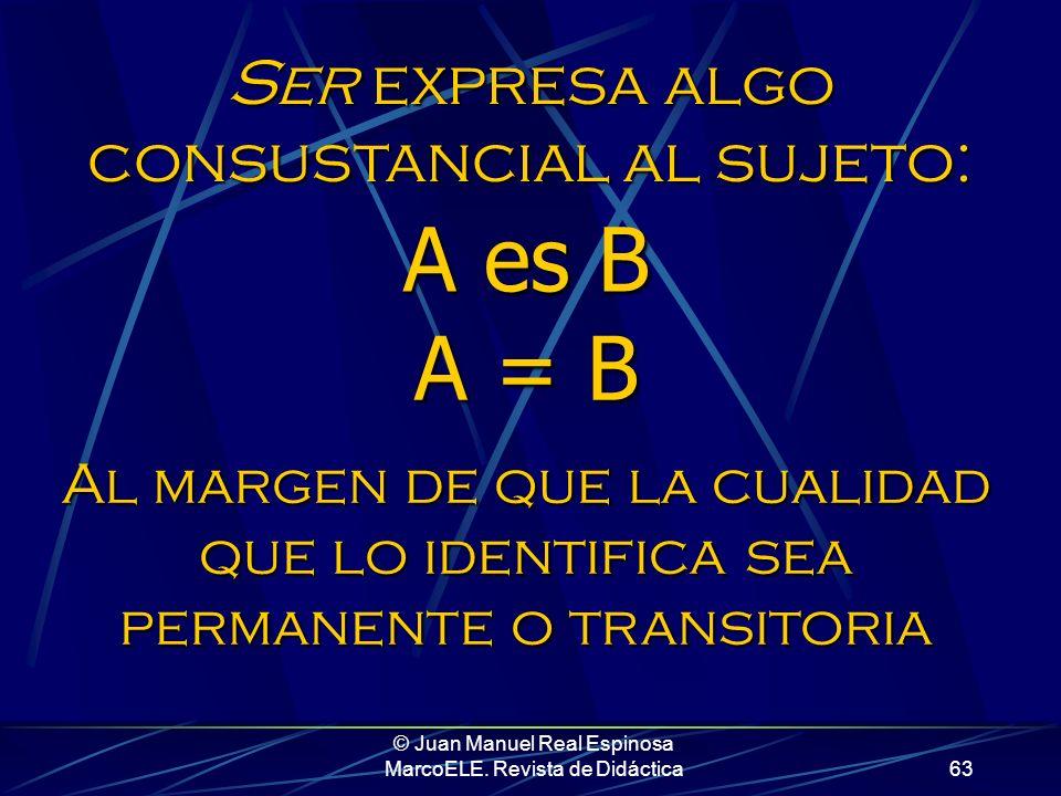 © Juan Manuel Real Espinosa MarcoELE. Revista de Didáctica62 A la hora de presentar todo esto en clase, es crucial no caer en el error de usar la pala