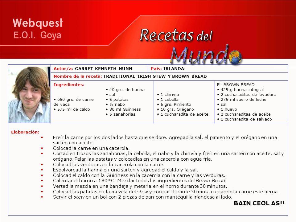 Autor/a: MARIYA SAVINAPaís: UCRANIA Nombre de la receta: GOLUBCY Ingredientes: (para 6 personas) 0,5 Kg.