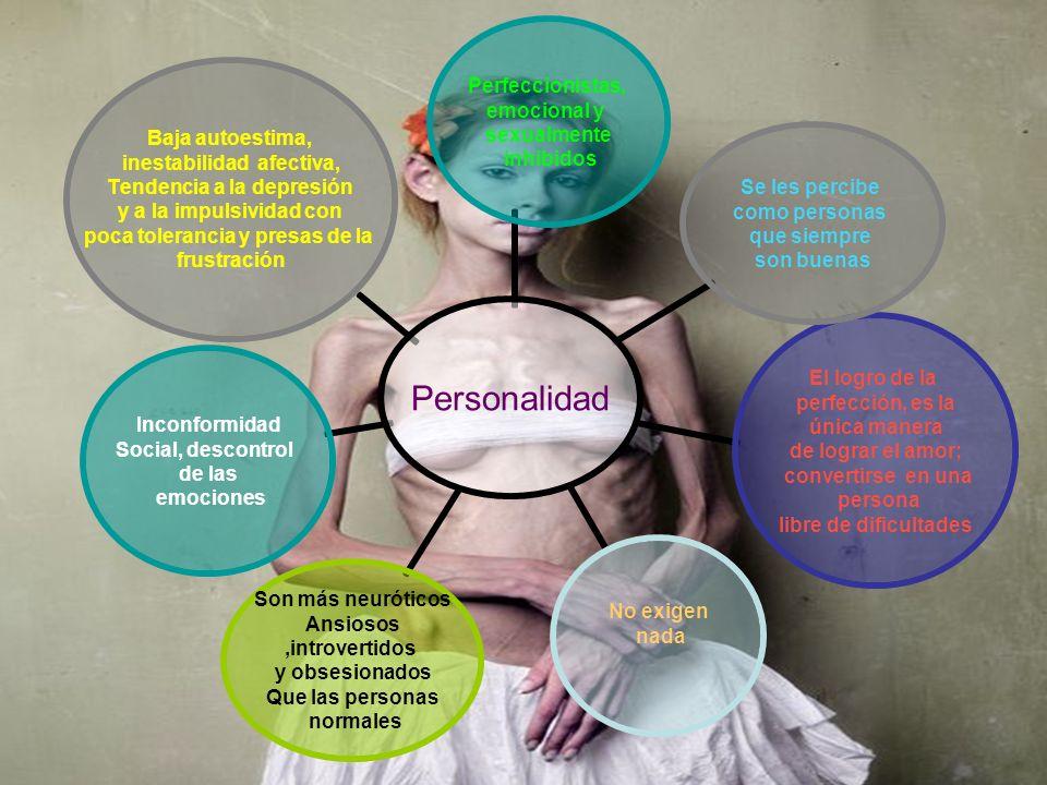 Personalidad Perfeccionistas, emocional y sexualmente inhibidos Se les percibe como personas que siempre son buenas El logro de la perfección, es la ú