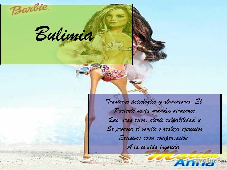 Bulimia Trastorno psicológico y alimentario.