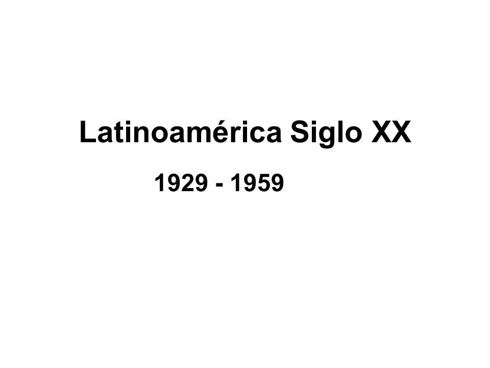 Latinoamérica Siglo XX 1929 - 1959