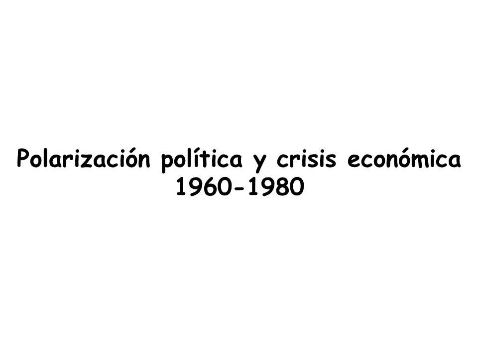Polarización política y crisis económica 1960-1980