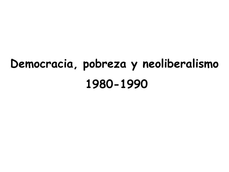 Democracia, pobreza y neoliberalismo 1980-1990