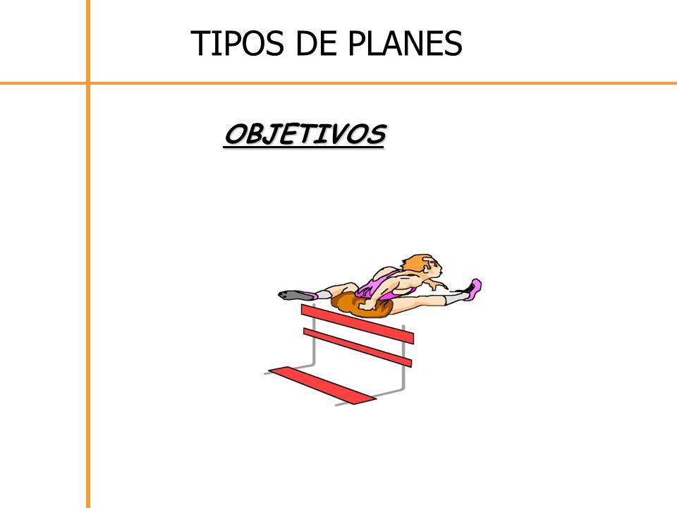 OBJETIVOS TIPOS DE PLANES
