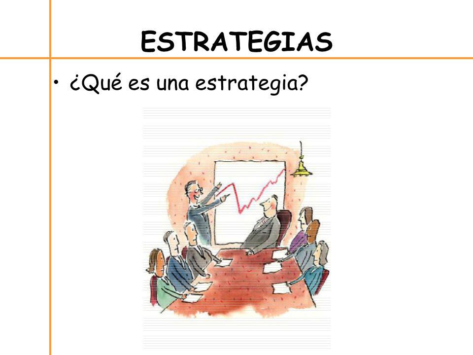¿Qué es una estrategia? ESTRATEGIAS