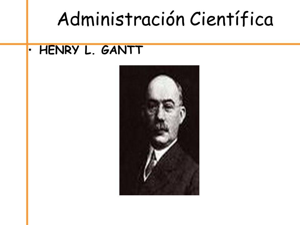 Administración Científica HENRY L. GANTT