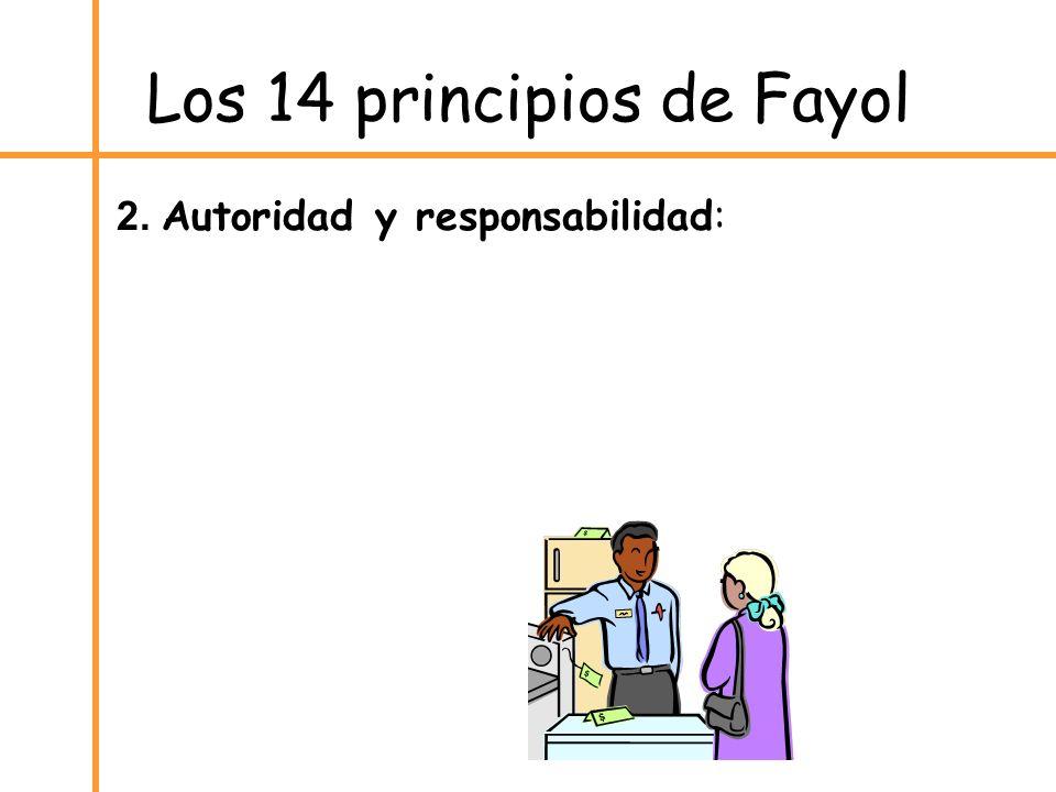 Los 14 principios de Fayol 2. Autoridad y responsabilidad: