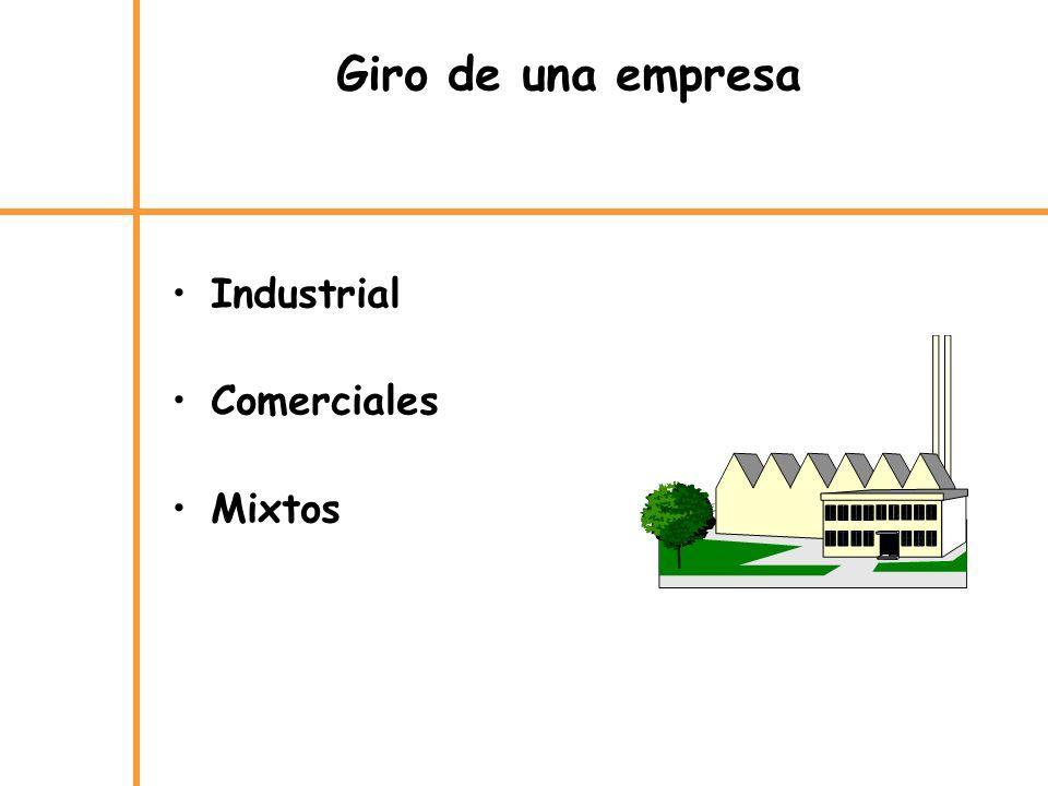 Giro de una empresa Industrial Comerciales Mixtos