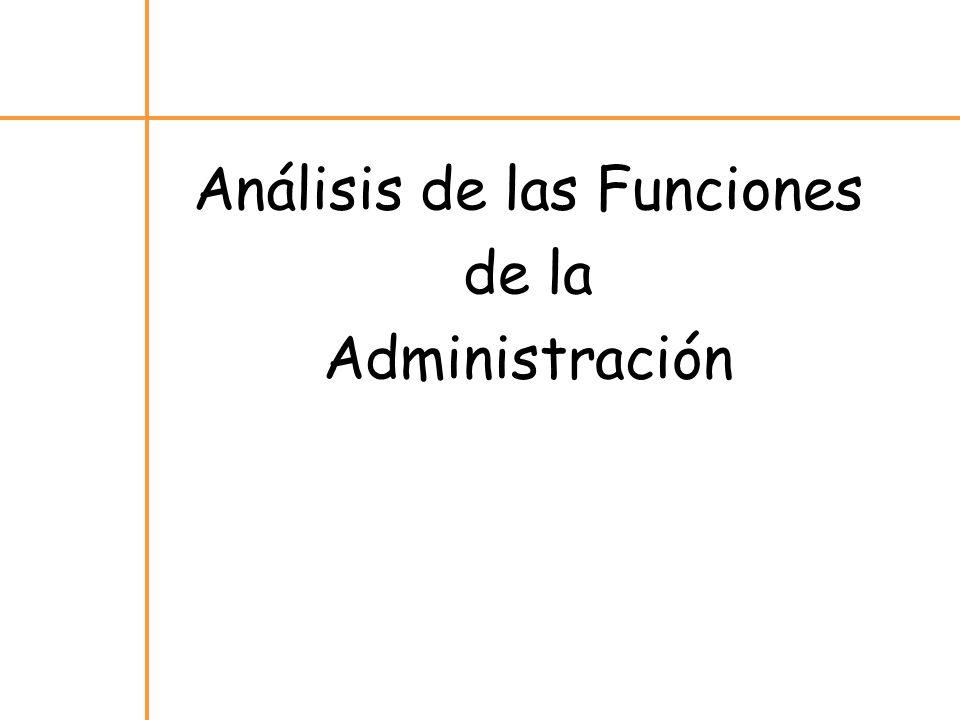 Análisis de las Funciones de la Administración