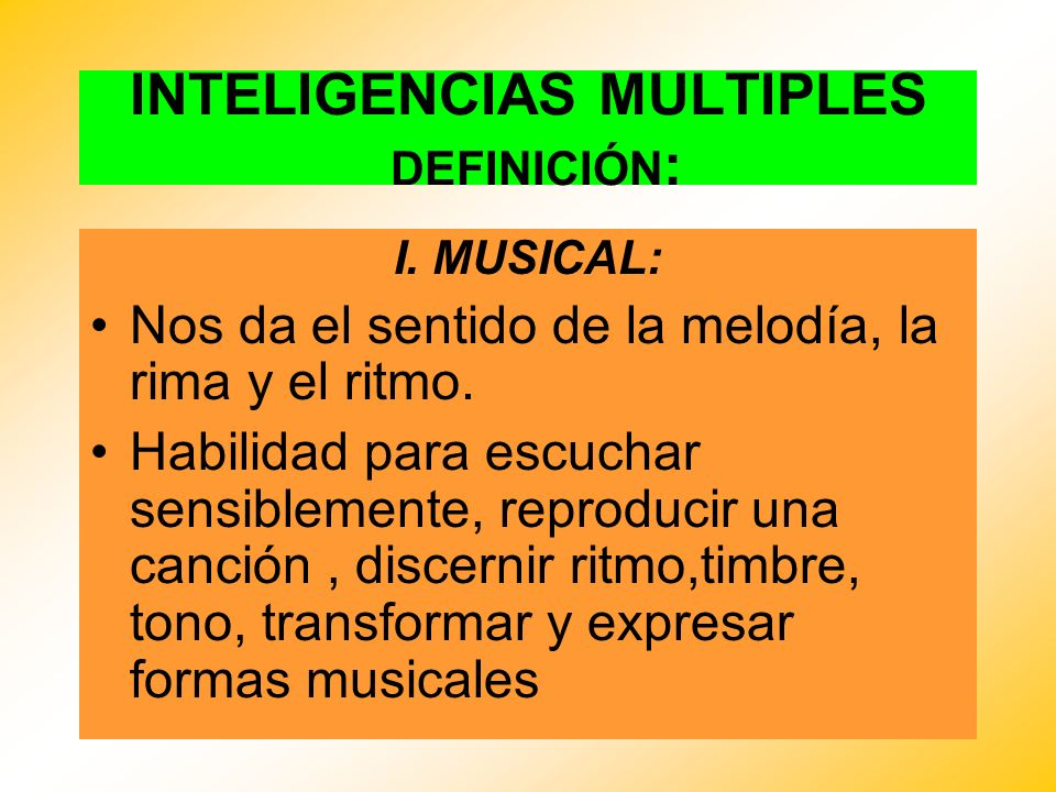 INTELIGENCIAS MULTIPLES I.