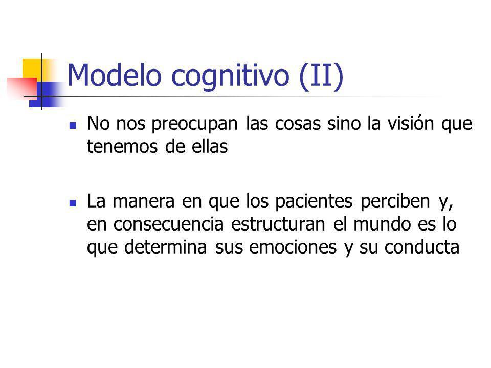 La terapia cognitiva es un modelo psicoterapeútico A corto plazo Activo Directivo Estructurado Colaborador Psicoeducacional Dinámico