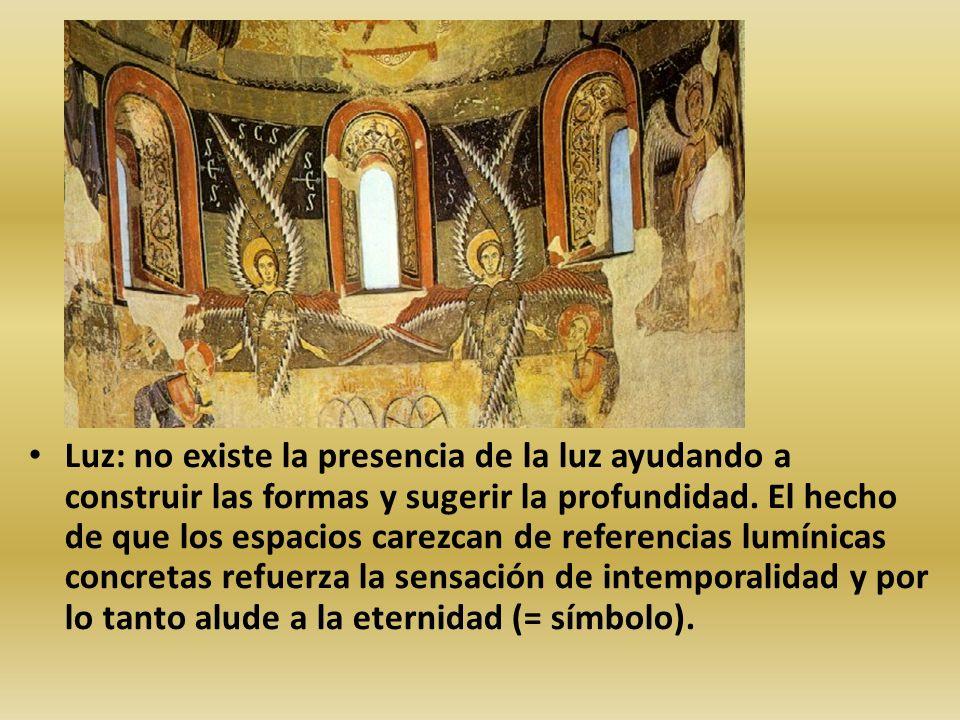 Luz: no existe la presencia de la luz ayudando a construir las formas y sugerir la profundidad. El hecho de que los espacios carezcan de referencias l