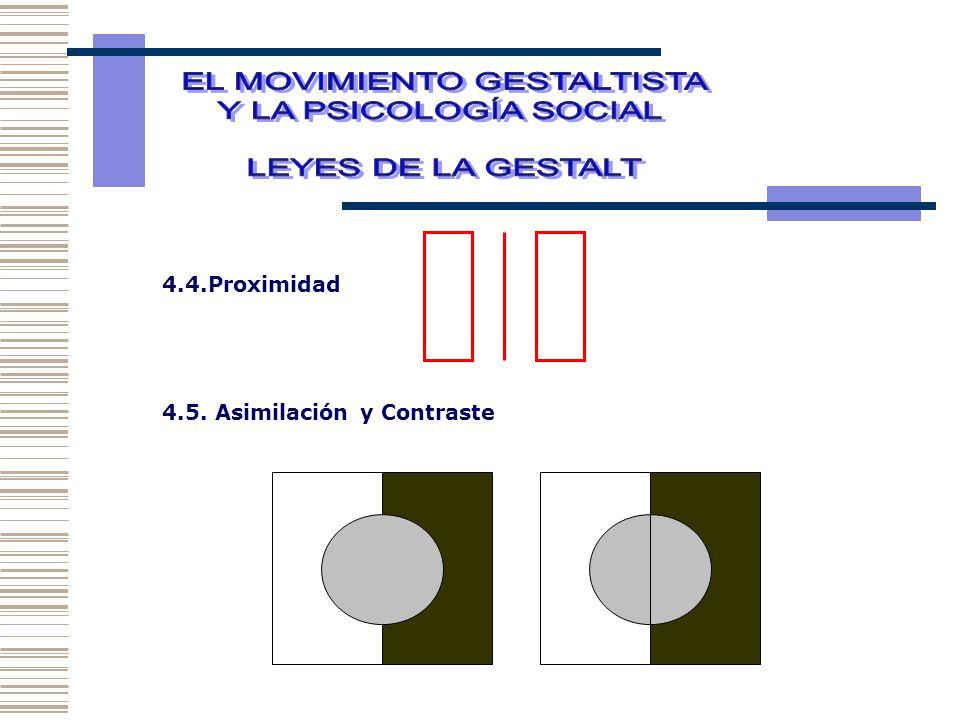 4.4.Proximidad 4.5. Asimilación y Contraste