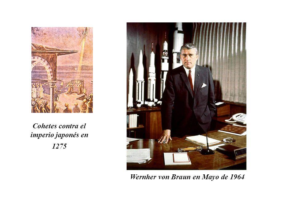 Cohetes contra el imperio japonés en 1275 Wernher von Braun en Mayo de 1964